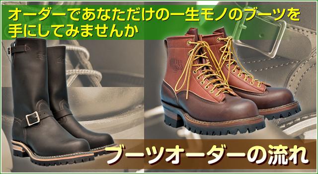 ブーツオーダーの流れ オーダーであなただけの一生モノの ホワイツ・ウエスコ ブーツを手にしてみませんか